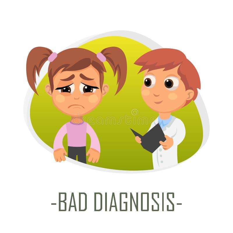 Concetto medico di cattiva diagnosi Illustrazione di vettore illustrazione vettoriale