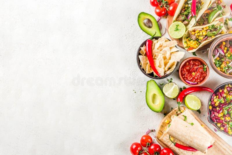 Concetto messicano dell'alimento Alimento di Cinco de Mayo fotografie stock libere da diritti
