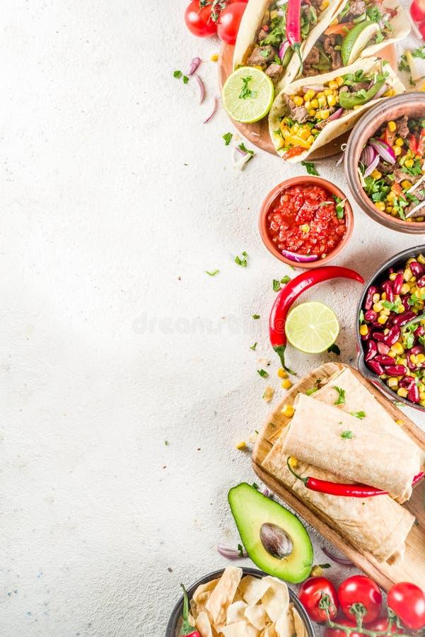 Concetto messicano dell'alimento Alimento di Cinco de Mayo immagine stock libera da diritti