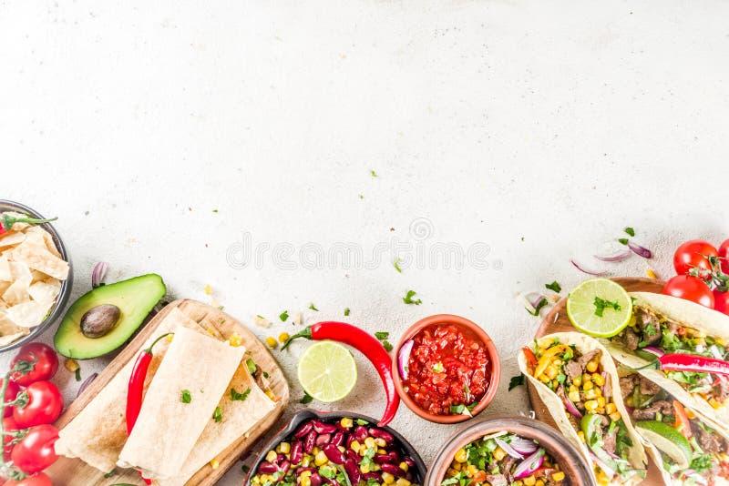 Concetto messicano dell'alimento Alimento di Cinco de Mayo fotografia stock libera da diritti