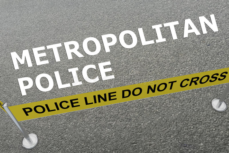 Concetto metropolitano della polizia illustrazione vettoriale