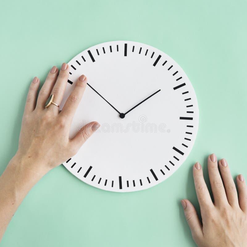 Concetto minuscolo del cerchio di Puntual di ora di tempo di orologio secondo illustrazione vettoriale