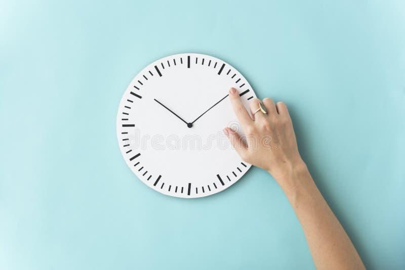 Concetto minuscolo puntuale di ora di tempo secondo immagine stock