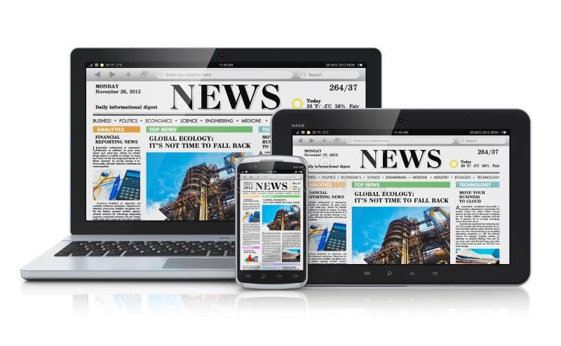 Dispositivi mobili di media illustrazione vettoriale