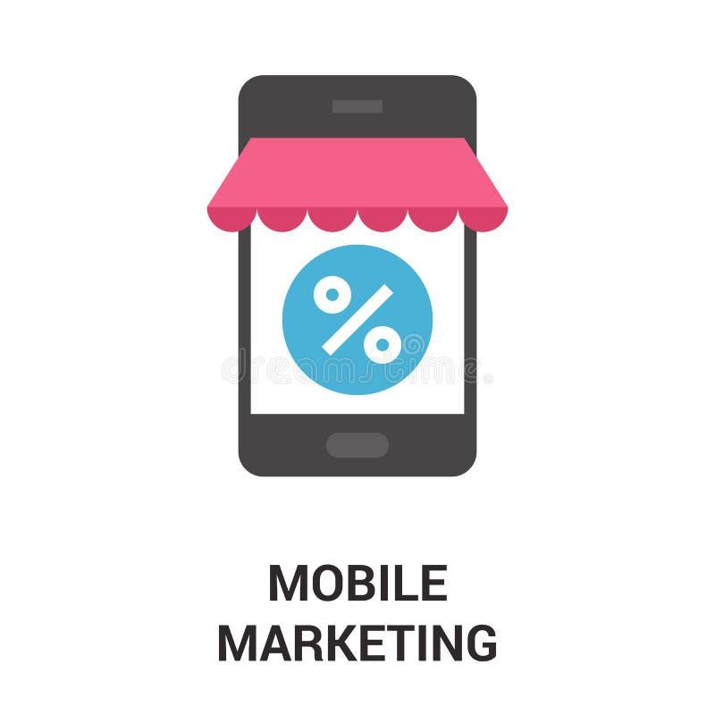 Concetto mobile dell'icona di vendita illustrazione di stock