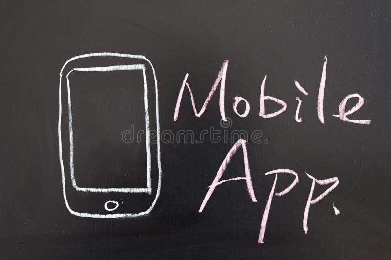 Concetto mobile di app fotografia stock