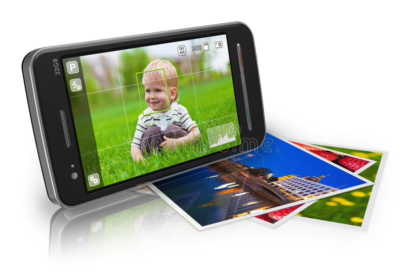 Concetto mobile di fotographia illustrazione di stock