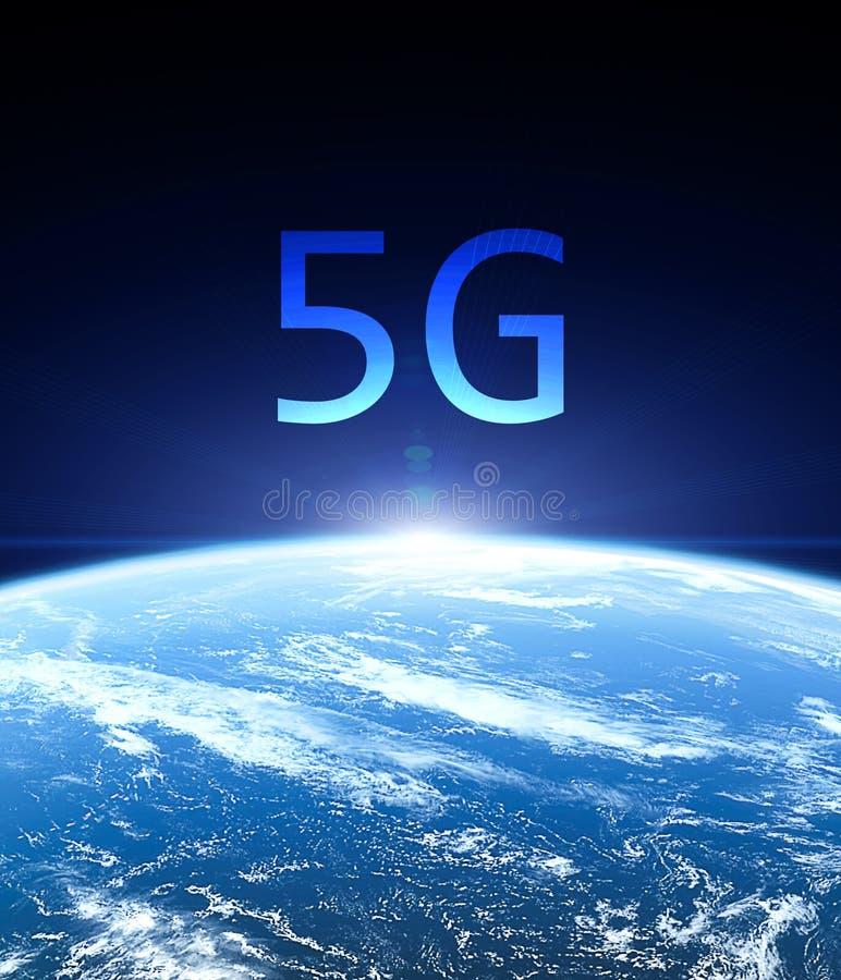 concetto mobile di Internet della rete wireless 5G illustrazione vettoriale
