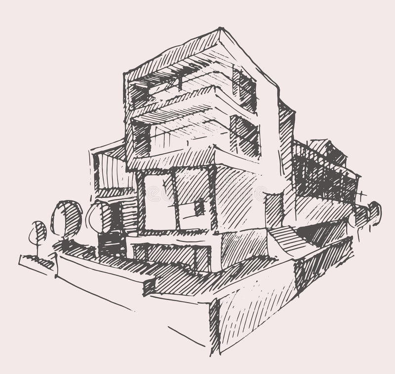 Concetto moderno della costruzione della nuova casa del for Progetto ville moderne nuova costruzione