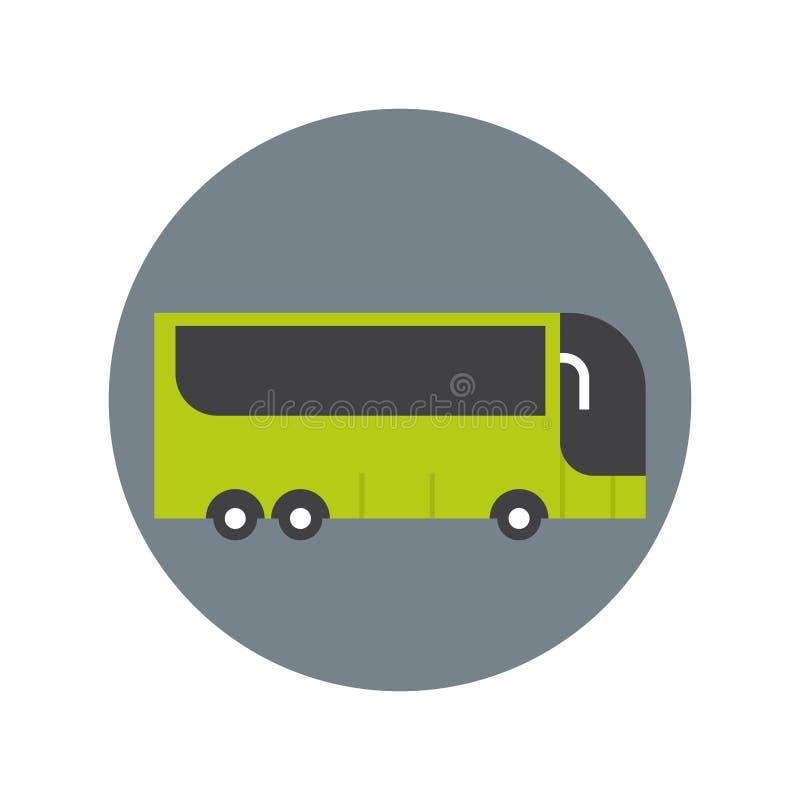 Concetto moderno di trasporto di viaggio dell'icona del bus turistico illustrazione vettoriale