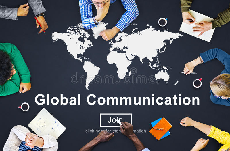 Concetto mondiale del homepage del sito Web della comunicazione globale immagini stock