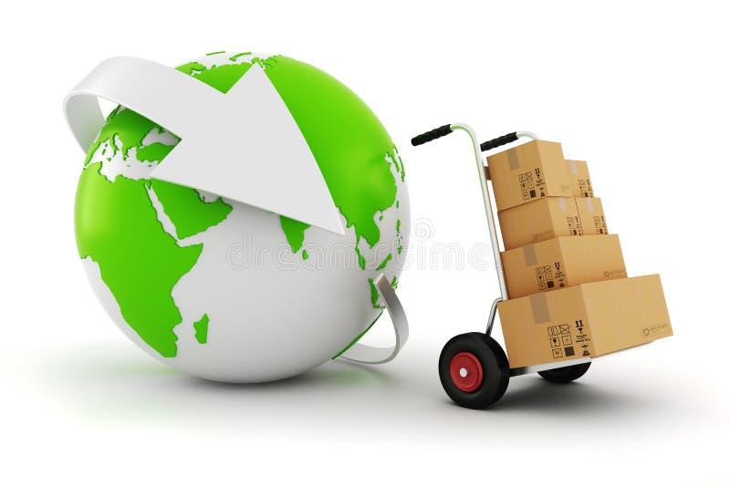 concetto mondiale di commercio 3d royalty illustrazione gratis