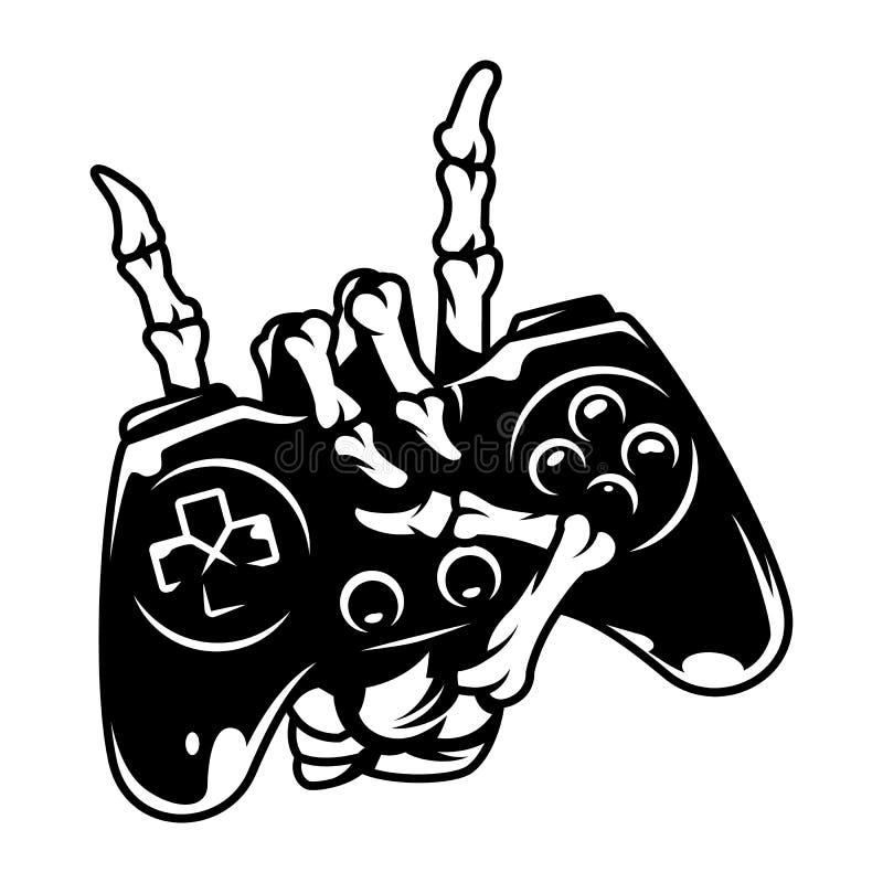 Concetto monocromatico d'annata di gioco illustrazione di stock