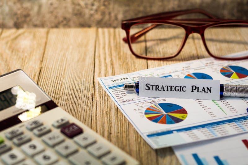 Concetto motivazionale di strategia finanziaria strategica di piano fotografia stock libera da diritti