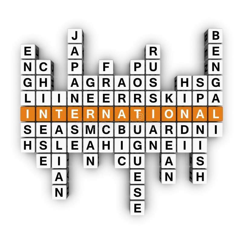 Concetto multilingue illustrazione di stock