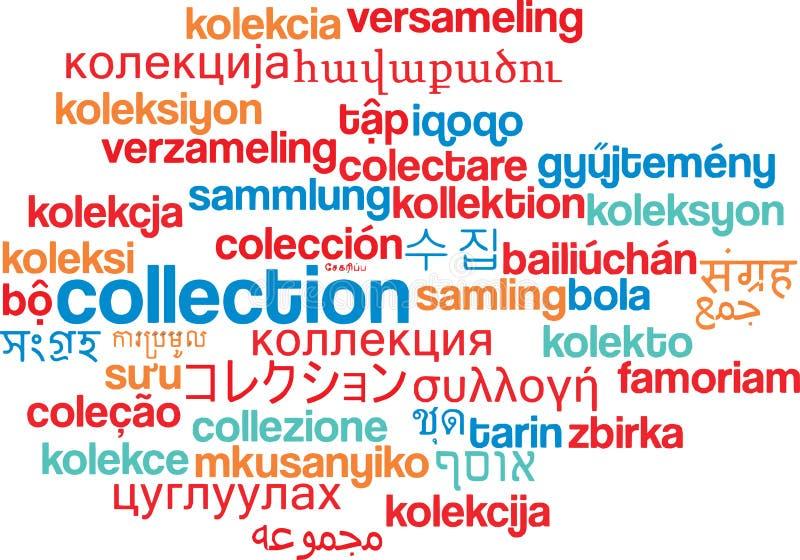 Concetto multilingue del fondo del wordcloud della raccolta royalty illustrazione gratis
