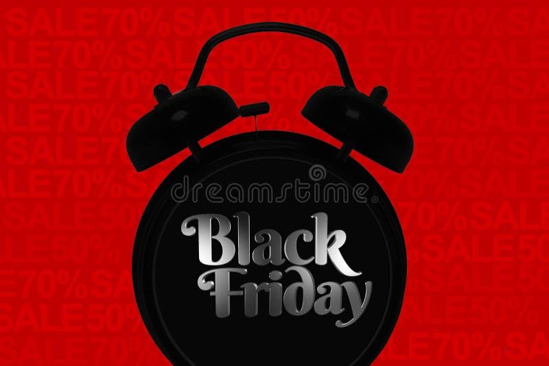Concetto nero di venerdì royalty illustrazione gratis