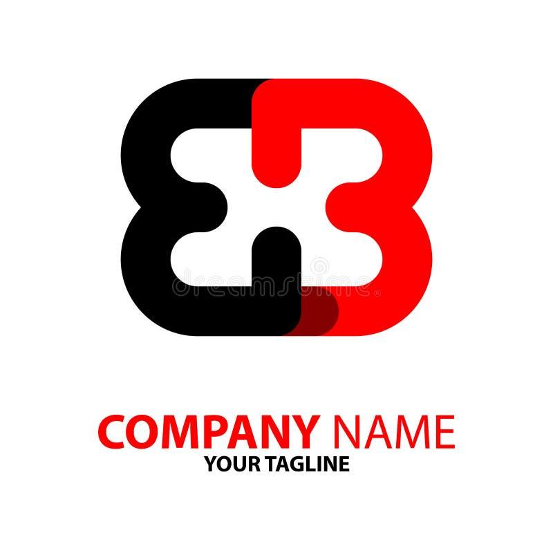 concetto nero rosso di logo della farfalla di bb royalty illustrazione gratis