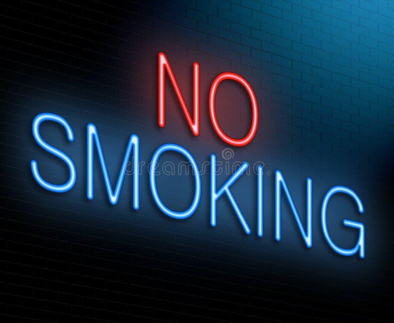 Concetto non fumatori. illustrazione di stock