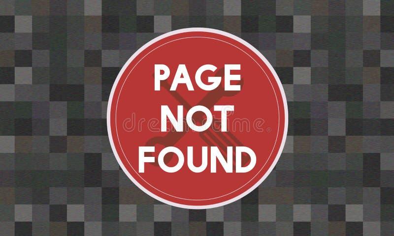 Concetto non trovato di problema del messaggio 404 della pagina illustrazione vettoriale