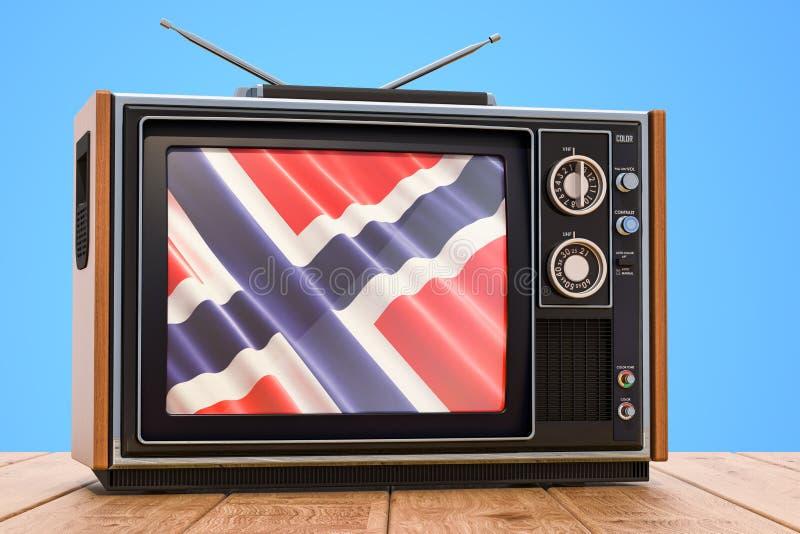 Concetto norvegese della televisione, 3D royalty illustrazione gratis