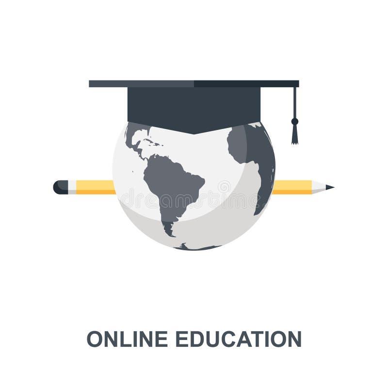Concetto online dell'icona di istruzione royalty illustrazione gratis