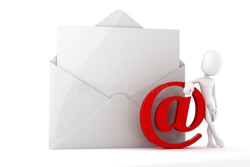 concetto online della posta dell'uomo 3d royalty illustrazione gratis