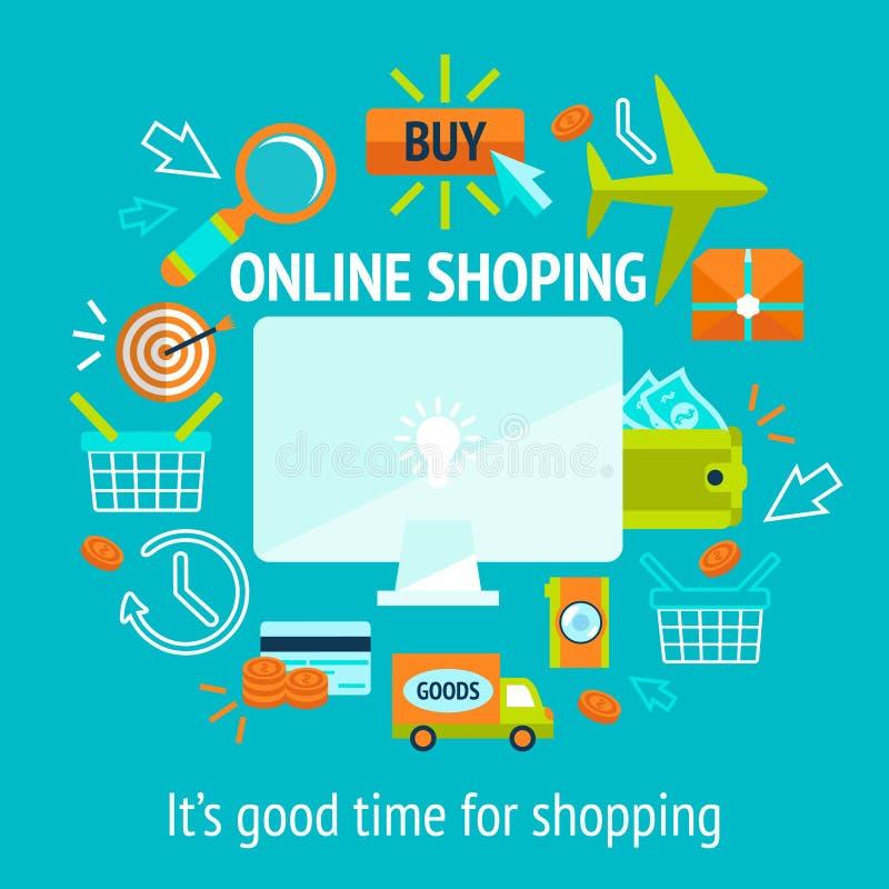 Concetto online di acquisto illustrazione di stock