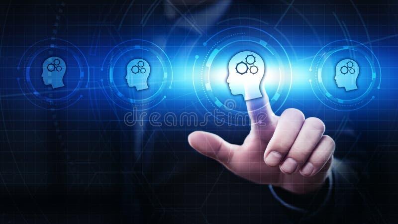 Concetto online di corsi di Webinar di tecnologia di Internet di istruzione di e-learning fotografie stock libere da diritti