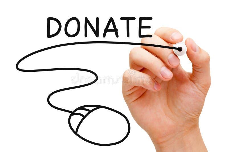 Concetto online di donazione fotografia stock