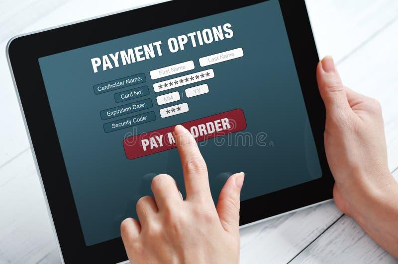 Concetto online di pagamento immagine stock