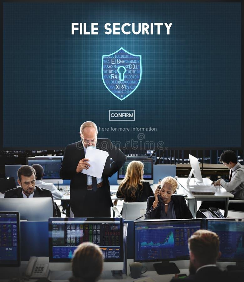 Concetto online di protezione di sicurezza di sicurezza degli archivi immagini stock libere da diritti