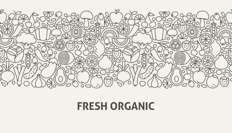 Concetto organico fresco dell'insegna illustrazione vettoriale