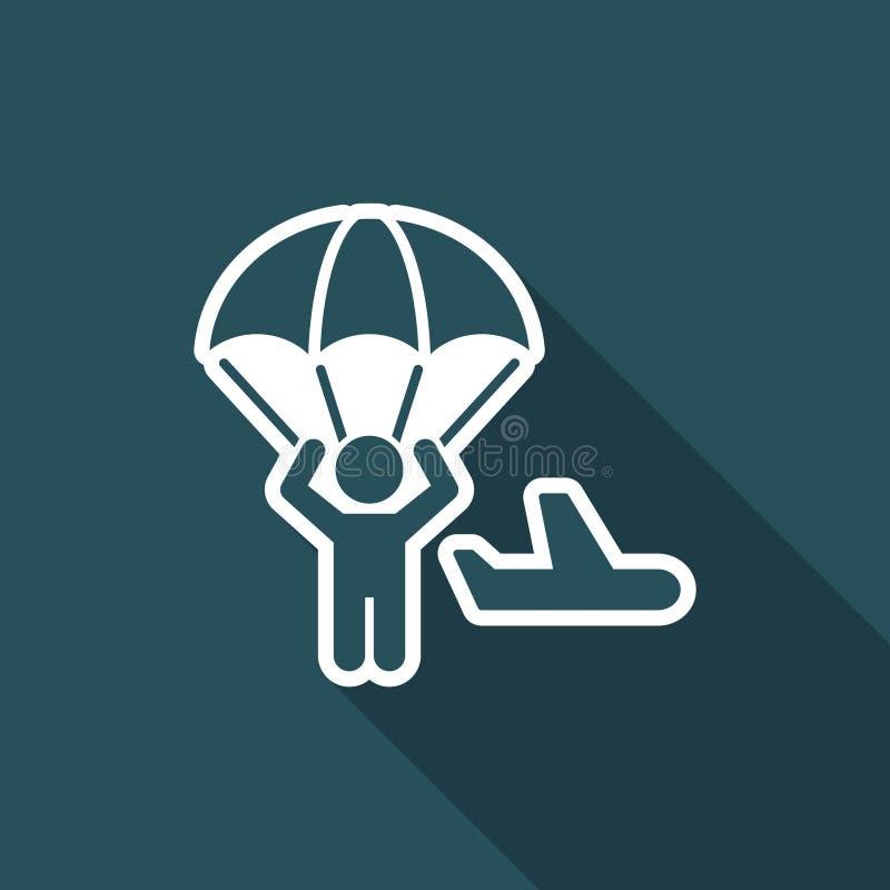 Concetto paracadutante - icona minima di vettore royalty illustrazione gratis