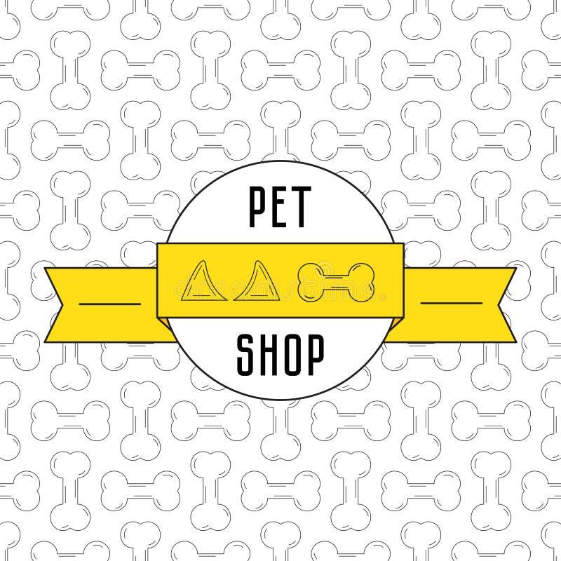 Concetto per il negozio di animali royalty illustrazione gratis