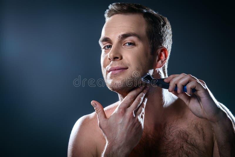 Concetto piacevole per bellezza maschio fotografie stock libere da diritti