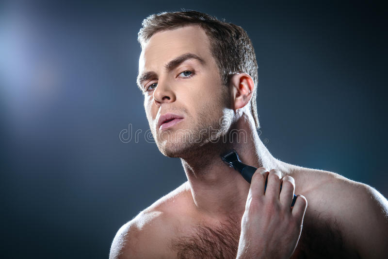 Concetto piacevole per bellezza maschio fotografia stock libera da diritti