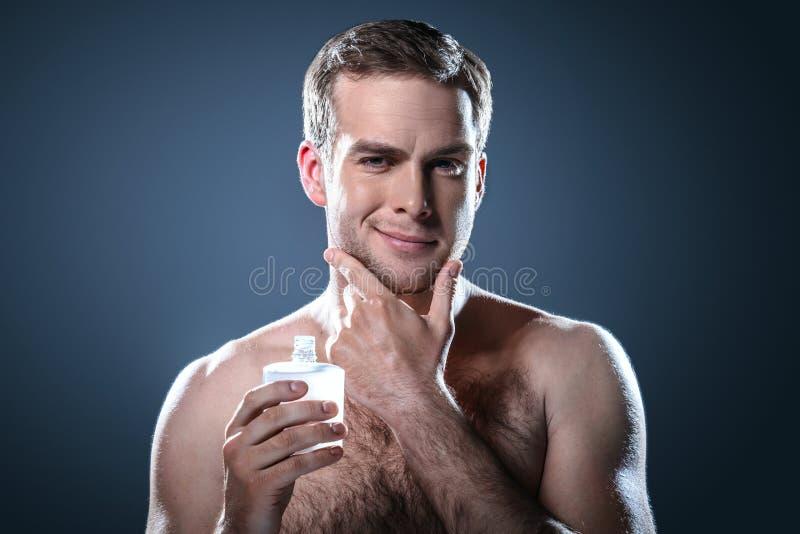 Concetto piacevole per bellezza maschio immagine stock