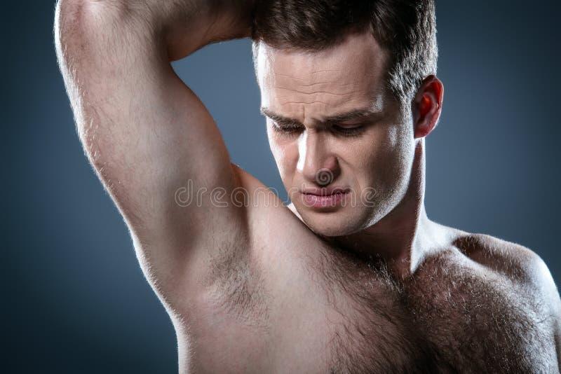 Concetto piacevole per bellezza maschio immagine stock libera da diritti