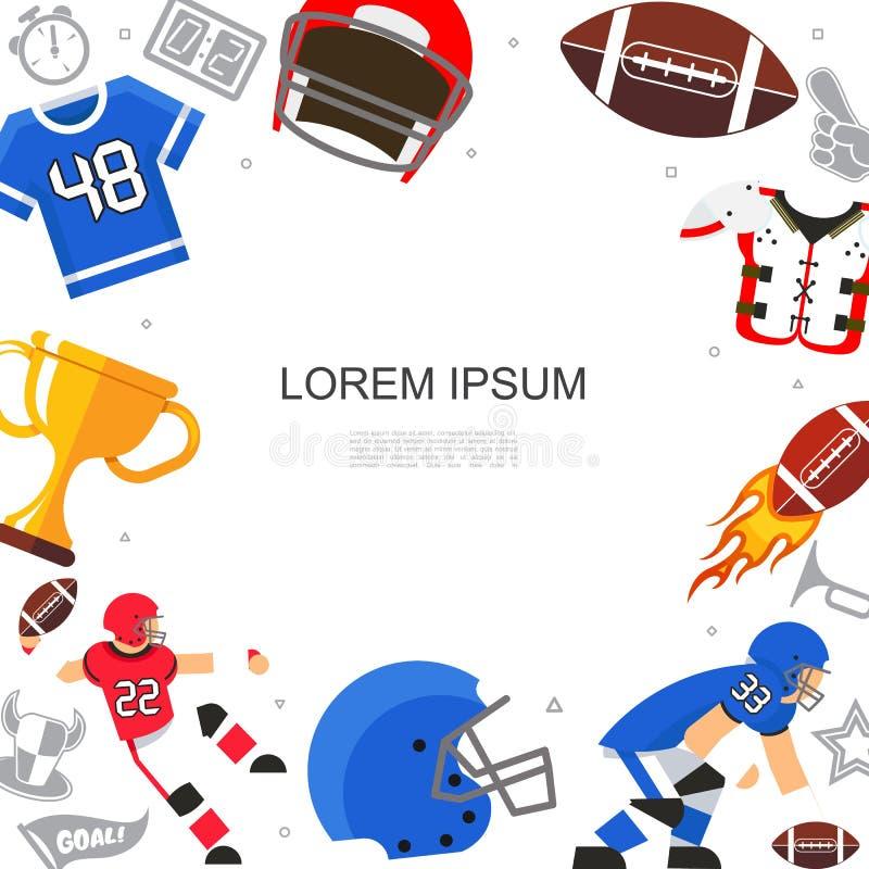 Concetto piano di football americano illustrazione vettoriale