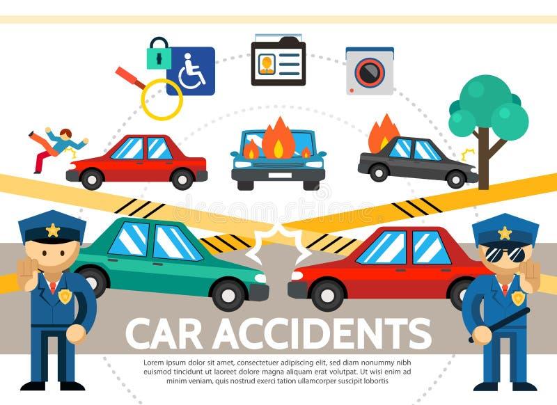 Concetto piano di incidente automatico illustrazione vettoriale