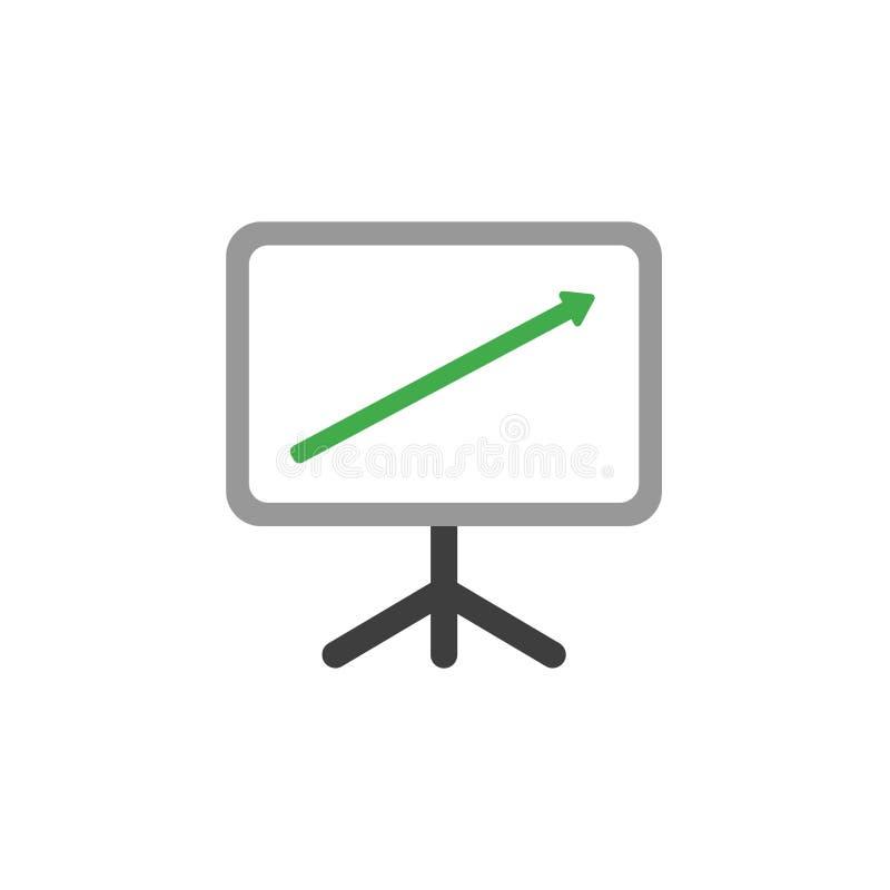 Concetto piano di vettore di stile di progettazione di spirito del bordo del grafico di presentazione illustrazione vettoriale