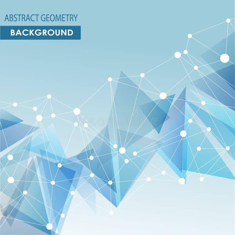 Concetto poligonale del fondo del collegamento molecolare illustrazione di stock