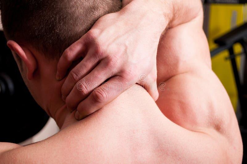 Concetto posteriore di dolore al collo immagini stock libere da diritti