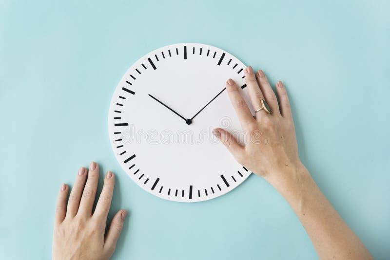 Concetto puntuale del cerchio di ora minuscola di tempo di orologio secondo immagini stock