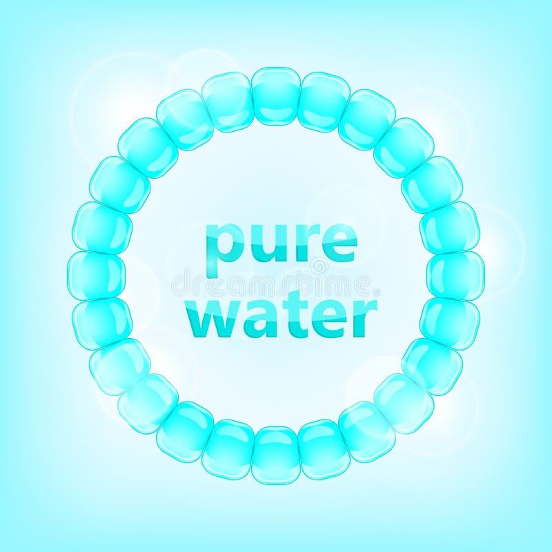 Concetto puro blu dell'acqua illustrazione di stock