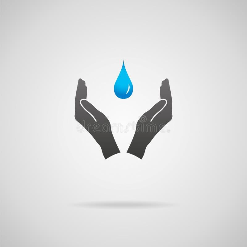 Concetto puro dell'acqua illustrazione di stock