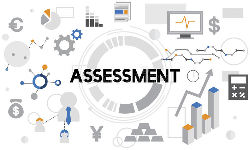 Concetto rapporto della gestione di analisi di valutazione di valutazione illustrazione vettoriale