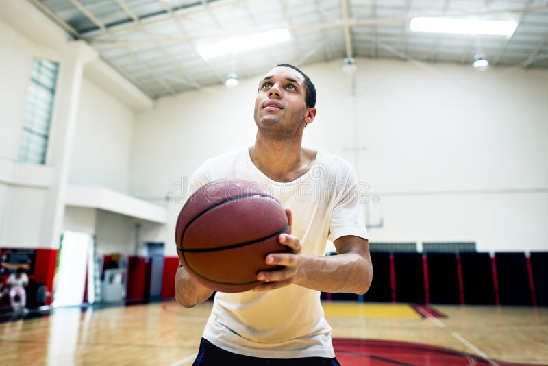 Concetto ricreativo di inseguimento di attività di svago di sport di pallacanestro immagine stock libera da diritti