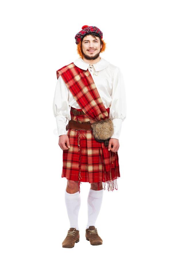 Concetto scozzese di tradizioni con l'uso della persona fotografia stock